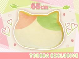 【トレバ限定】もちもち猫型食パンクッション~いちご抹茶ミケ~