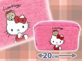 キティ サガラ刺繡スクエアポーチ
