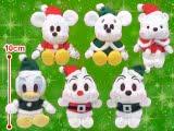 【セール台】ディズニーキャラクターズ 赤いほっぺ ホワイトクリスマスマスコット