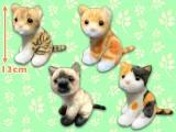 かわいい猫のおすわりマスコットBC