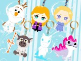 アナと雪の女王2キラキララインストーンキーホルダー