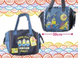 ミニオンズツートンデニム風デザインラインバッグ