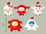 【セール台】サンリオキャラクターズ クリスマスギンガムマスコット