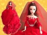 ゴージャスBIGドール 真っ赤なエレガントドレス