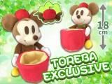 【トレバ限定】ミッキーマウス りんごのぬいぐるみ小物入れ