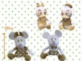 ミッキー&フレンズ ホワイトゴールドぬいぐるみ