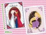 ディズニー アナと雪の女王&ラプンツェル フランネルビッグ毛布