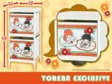 【トレバ限定】サンリオキャラクターズ 2段式収納ボックス リトルツインスターズ レトロポップ