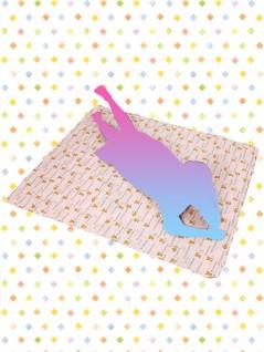 リラックマ 大判キルト風マット A.ピンク