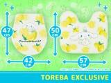 【トレバ限定】サンリオキャラクターズ トイレマットセット シナモロール さわやかレモン